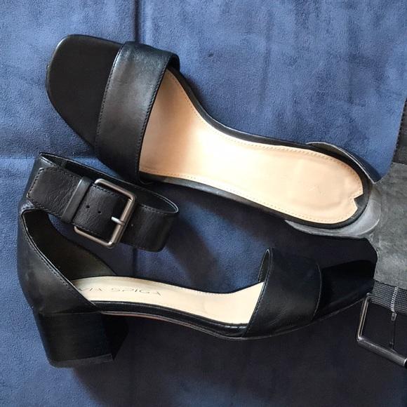 672a7b29dde Via Spiga Shoes - Via Spiga Black ankle Strap Leather Sandal 6